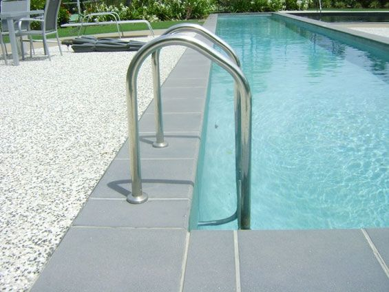Stainless steel swimming pool uprails